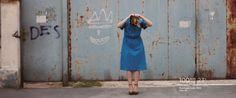 Elena Caragiani-Stoenescu Blue Aviator Dress.