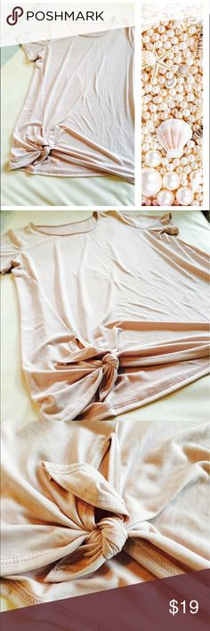 Light rose tunic with side tie 🌸🍃 Light rose colored tunic top with side tie. Ultra soft modal fabric. Tag has been removed. 🌸🍃OFFERS WELCOME. USE THE OFFER BUTTON. Tops
