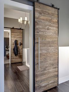 Photo of Gray Rustic Hallway project in Redmond, WA by Lavallee Construction