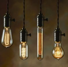From $2.50 +! Hanging Light bulbs Edison Bulbs Nostalgic Lighting Interior Design Exterior Design Lighting Design Cheap Lighting Contemporary Lighting Lighting Projects DIY Lighting http://www.blocklighting.com/c-907-incandescent-nostalgic-light-bulbs.aspx
