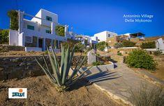 Antoninis Village Houlakia Mykonos Mykonos, Mansions, House Styles, Plants, Home Decor, Decoration Home, Manor Houses, Room Decor, Villas