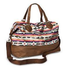 Mossimo Supply Co Duffle Weekender Handbag Multicolored Travel Purse Backpack Fashion