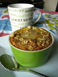 single serving honey baked oatmeal   two foodies & a pup - a delicious dish sweetened with applesauce and honey