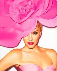 Gwen Stefani in fab PINK Hat, fancy hat