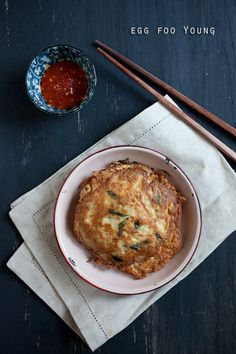 Egg Foo Young: My recipe includes bean sprouts and some chopped scallions in the eggs. For the protein, I added some ground pork and shrimp. #chinese #egg