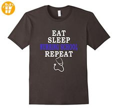 Eat Sleep Nursing School Repeat Funny Nursing Gift T-Shirt - Herren, Größe M - Asphalt (*Partner-Link)