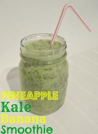Pineapple kale banana smoothie