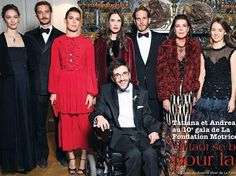 Princess Caroline and her family attended 2017 Charity Dinner of Motrice Foundation