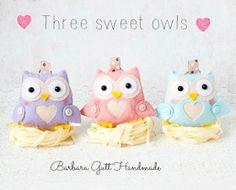 Barbara Handmade...: Pastelowe love sowe ;)