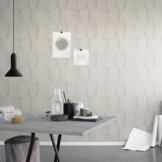 Papier peint Papper - beige - Sandberg Tyg & Tapet