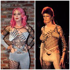 David Bowie Costume that isn't Aladdin Sane (Lightning Makeup)