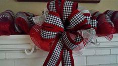 Alabama Crimson Tide deco mesh 9ft. Garland Alabama Football Wreath, Alabama Wreaths, Alabama Crimson Tide, Deco Mesh, 4th Of July Wreath, Garland, Unique Jewelry, Handmade Gifts, Christmas