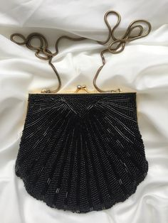 Vintage Beaded Evening Clutch, Art Deco, Great Gatsby, 1920's, Beaded Clutch, Evening Bag, Upcycled by MarlaHomanCollection on Etsy https://www.etsy.com/ca/listing/496785256/vintage-beaded-evening-clutch-art-deco