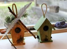 Natural Pod - Megan Fraser - Bird Houses birdhouse out of foam core/add found natural objects from nature hike..?