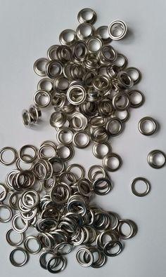 Ösen mit Scheiben silber 100 Stück 4mm 5mm 8mm 11mm 14mm nach Wahl
