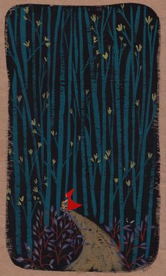 ellensurrey:  Little Red Riding Hood goes deep into the woods From my other blog Illustration x3