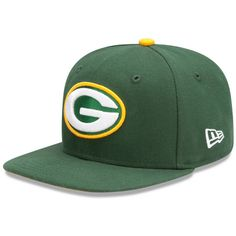 JUST KEEP IT SIMPLE.   Green Bay Packers On Field 59-Fifty Fitted Cap    $32.95  The official Sideline cap for the 2012 season. The 59Fifty cap is New Era's signature structured fitted cap. Flat visor has the ability to curve. Full crown & six panels with raised embroidered logo and NFL Equipment patch at back. Polyester.
