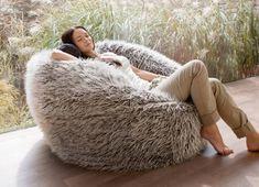Buy Faux Fur Bean Bag | Fur Beanbag Chair Online
