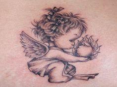 Baby Girl Cherub Tattoo