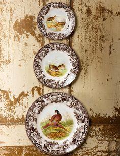 Spode Woodland plates.