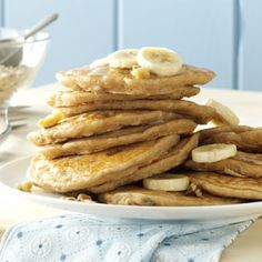 Banana Oatmeal Pancakes Recipe from Taste of Home -- shared by Patricia Swart of Galloway, New Jersey