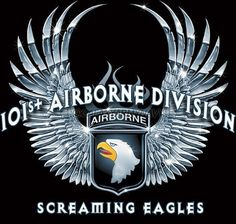 1 sided t-shirt. airborne division screaming eagles print on front. Eagle head with wing pictured on Army Mom, Army Life, Airborne Tattoos, War Novels, Screaming Eagle, 101st Airborne Division, Army Infantry, Band Of Brothers, Harley Davidson News