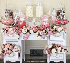 Candy Buffet Wedding Styled by Mackenzi Creations - www.mackenziweddings.com and Candy by The Candy Buffet Co
