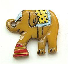 bakelite elephant brooch