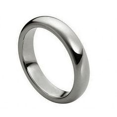 Men's Tungsten Carbide Wedding Band Dome High Polished Finish 4.0mm