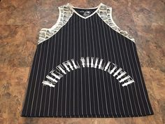 Metal Mulisha Black/White Basketball Style Jersey Men's Size Large Tank Top  #MetalMulisha #ShirtsTops