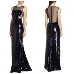 NEW  BCBG Carbon Combo EVANGELINE Paillette Gown L $598 AJJ6W498       #BCBGMaxAzria #Maxi #Cocktail