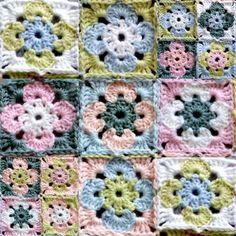 """tuto """"fleurs carrés"""" from patty crochète"""