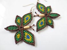 Butterfly Brazil Color Handmade Macrame por PapachoCreations