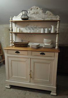 buffet patin ancien style louis xv en ch ne relook par le boudoir de roses sur rue des. Black Bedroom Furniture Sets. Home Design Ideas