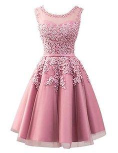 Beyonddress Damen Abendkleider Mit Applikationen Elegant Ballkleid Brautjungfernkleider Kurz Partykleid: Amazon.de: Bekleidung
