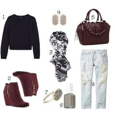 Fall Outfit Idea // Fall Booties // Cute Scarf