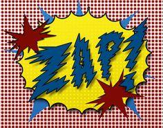 Boy Pop Art Prints Crash Biff Zap in the comic by TheBarberShoppe, $53.00