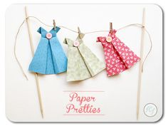 DIY Folded Paper Dresses