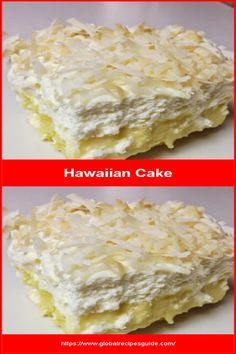 Hawaiian Cake - Daily World Cuisine Recipes Whats Gaby Cooking, Pancake Cake, Vanilla Pudding Mix, Homemade Whipped Cream, Yellow Cake Mixes, Toasted Coconut, Daily Meals, Cake Batter, What To Cook