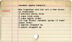 ~caramel apple pie sangria~{& a giveaway!}