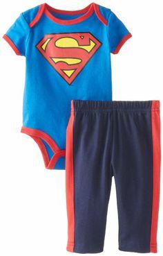 Amazon.com: Disney Baby Baby-Boys Newborn Superman Creeper Pant Set: Clothing