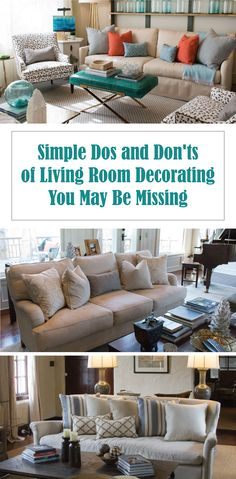 Sometimes all you need are some helpful dos and don'ts so you can avoid simple #decorating mistakes!
