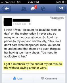 Pick up line level: genius.