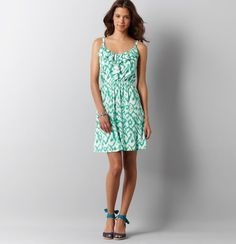 Loft - LOFT New Arrivals - Embellished Ikat Print Ruffle Neck Dress- I just bought this gorgeous summer dress! It will definitely get a lot of use this summer! :-)
