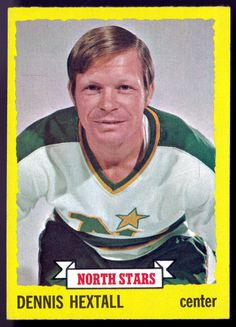 MINNESOTA NORTH STARS 1973-74 TOPPS DENNIS HEXTALL  EX+NM CONDITION  FREE SHIP #PittsburghPenguins
