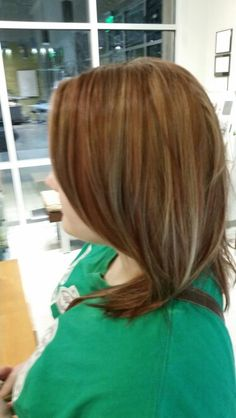 Red head going lighter starting with highs and lows...round 1! By Ashley Bean
