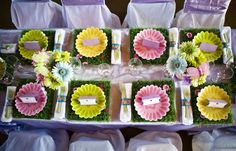Fairy party place setting