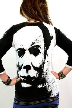 Halloween Michael Myers Skeleton Bones Shirt by RevenantOddities