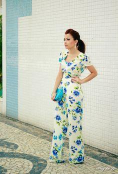 No look macacão floral    por Letícia Oliveira | Blog da Lê       - http://modatrade.com.br/no-look-macac-o-floral