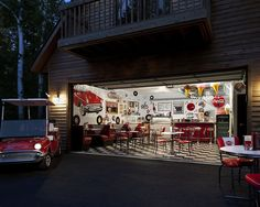 50's Diner Design, Pictures, Remodel, Decor and Ideas - this is a garage?